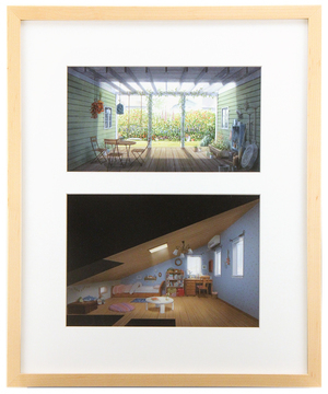 The Art of The Wonderland: Pg56-57 House Interiors, Ilya Kuvshinov