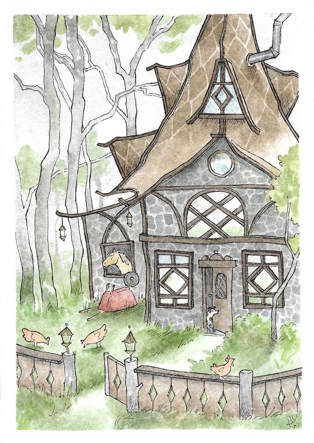 The Cottage of the Spotted Dog, Hannah Sease