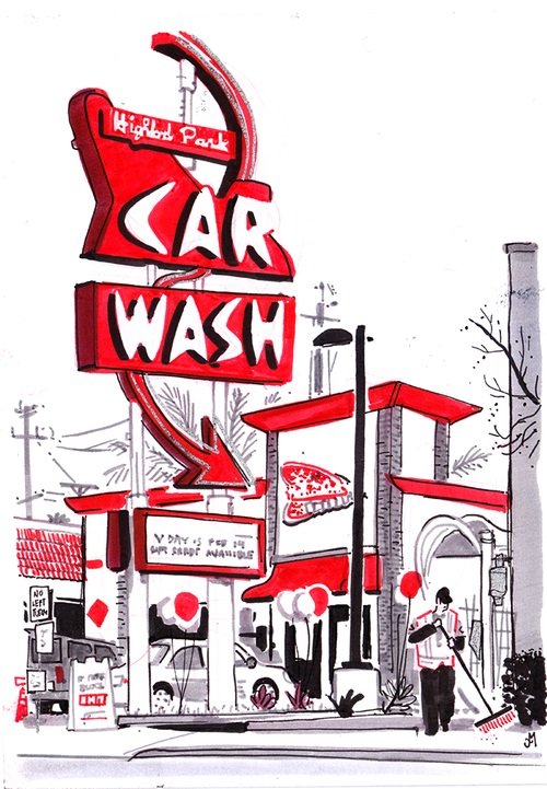 Highland Park Car Wash, Thomas Mason