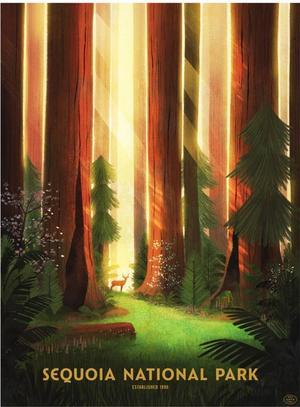Sequoia National Park (The Fifty-Nine Parks Print Series), Glenn Thomas