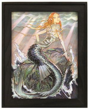Mermaid on the Rocks, Mindy Lee