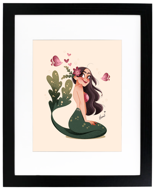 Mermaid and heart fishes, Karoline Pietrowski