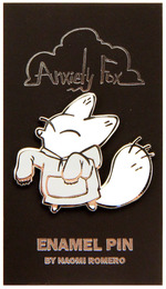 Hoodie - Anxiety Fox Enamel Pin, Naomi Romero