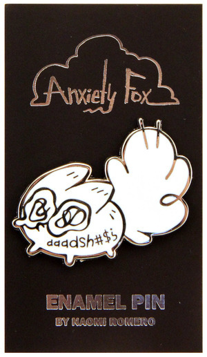 aaadah#!? - Anxiety Fox Enamel Pin, Naomi Romero