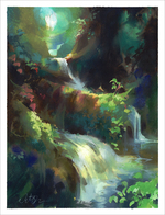 Jungle Falls (print), Nathan Fowkes
