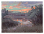 Sunset Pond (print), Nathan Fowkes