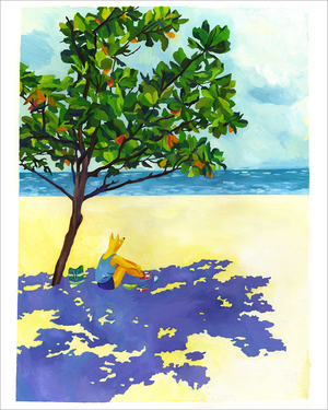 Beach Tree (print), Lisa Hanawalt