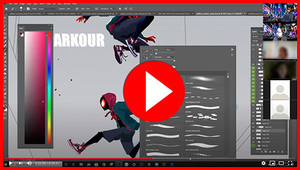 Painting the Spider-Verse w/  Yuhki Demers Workshop (recording), Yuhki Demers