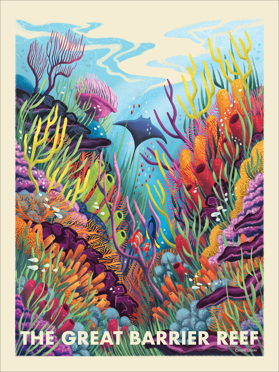 The Great Barrier Reef (print), Beverly Arce