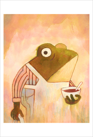Pokko: Dad with Soup (print), Matthew Forsythe
