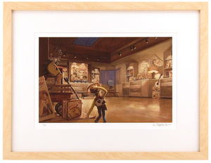 Woody in Al's Display Room by Randy Berrett (Toy Story 2) - Framed, 1st Edition
