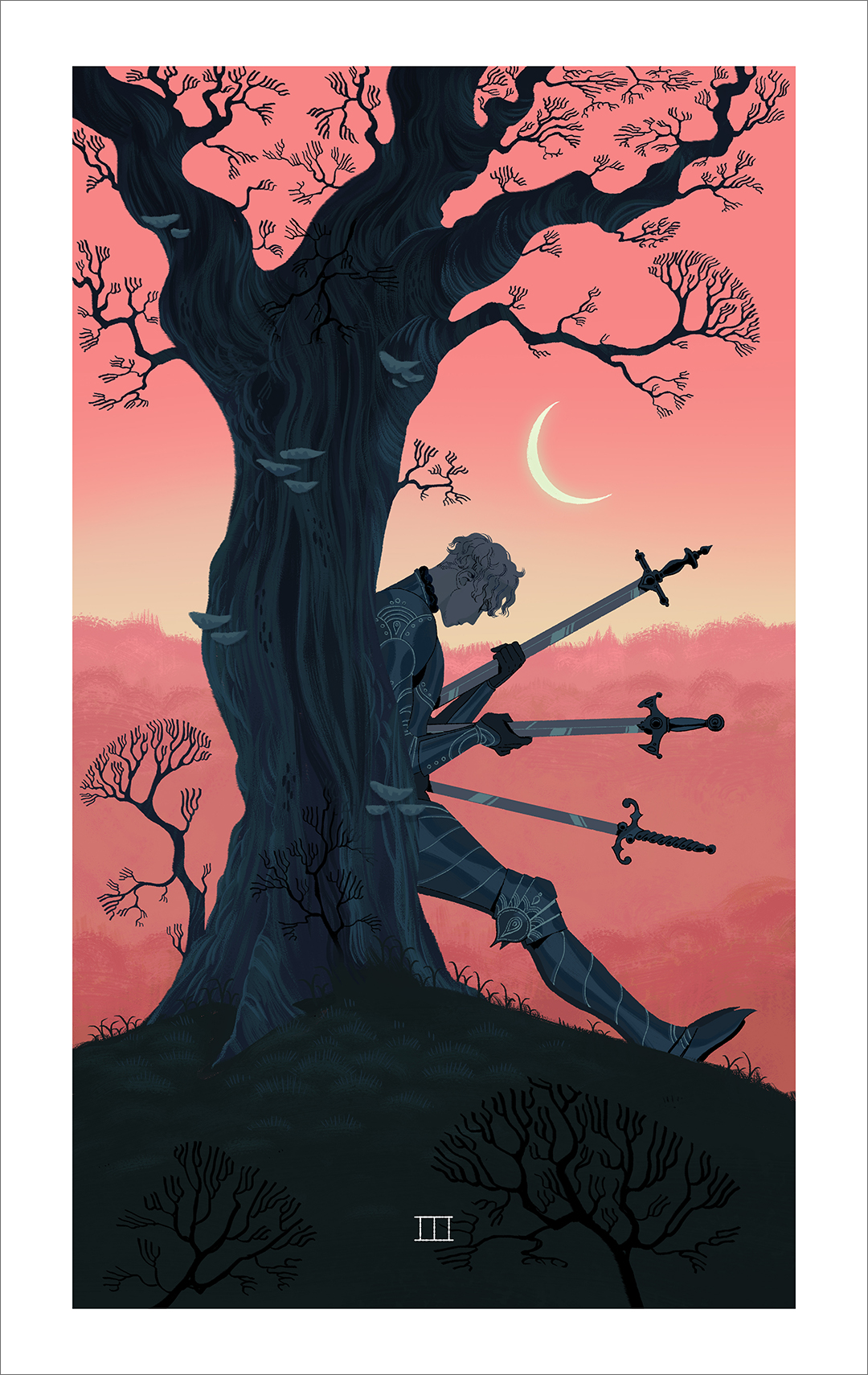 Three of Swords (print), Sara Kipin