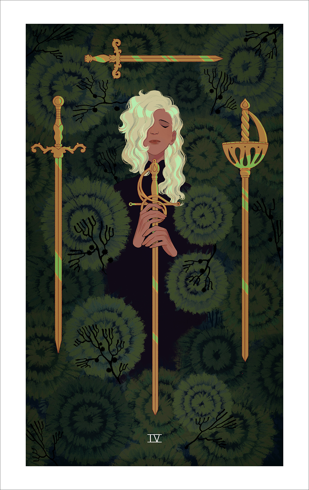 Four of Swords (print), Sara Kipin