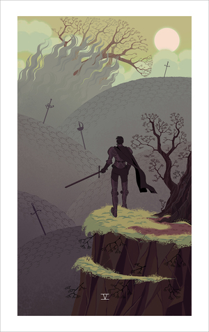 Five of Swords (print), Sara Kipin