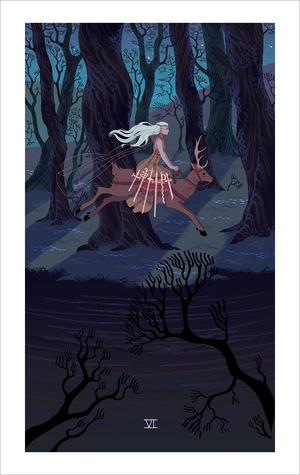 Six of Swords (print), Sara Kipin