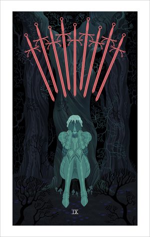 Nine of Swords (print), Sara Kipin