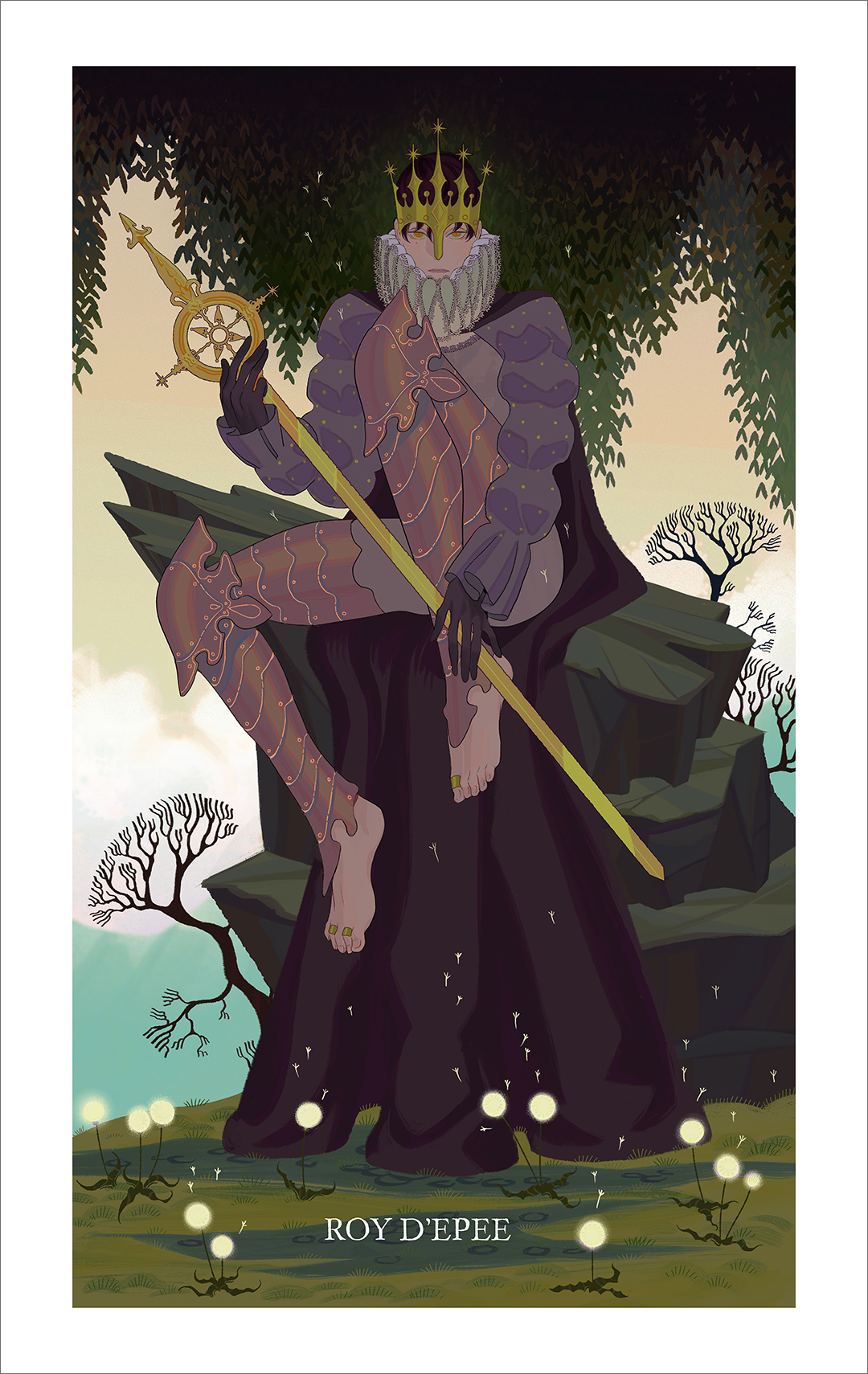 King of Swords (print), Sara Kipin