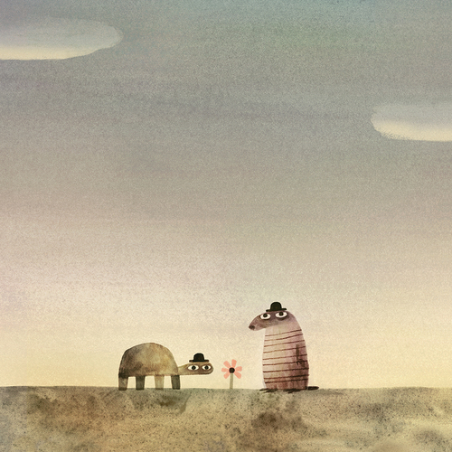 The Rock From the Sky Exhibition by Jon Klassen