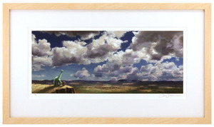 The Good Dinosaur Colorscript by Sharon Calahan (The Good Dinosaur) - Framed