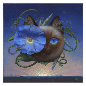 Cheshire Cat Dawn (print), Kristin Kwan