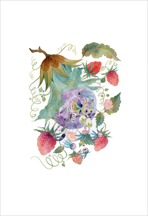 Strawberries (print), Lorena Alvarez Gomez