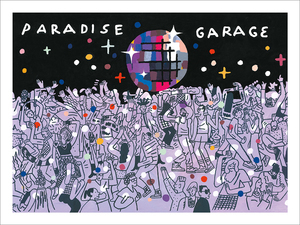 Drawing on Walls -Paradise Garage (print), Josh Cochran