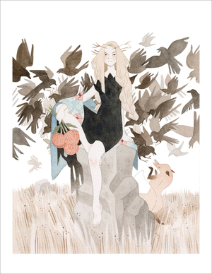 The Winter Witch (print), Vanessa Gillings