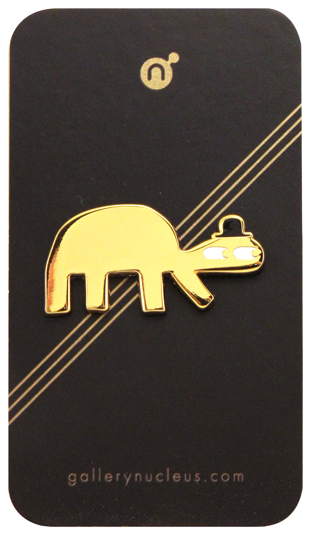 Turtle with Derby Hat Enamel Pin, Jon Klassen