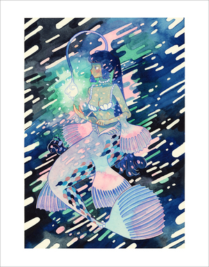Deep Sea Mermaid (Print), Meyoco