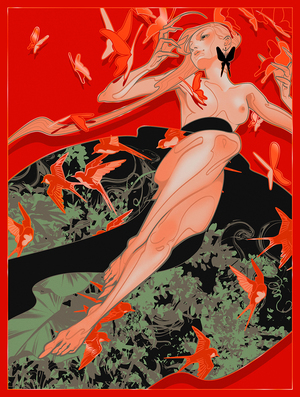Red Witch (PRINT), J.A.W. Cooper